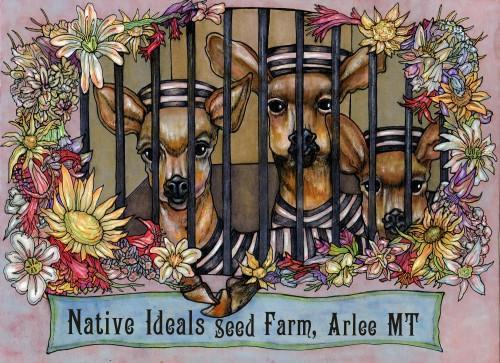 Native Ideals Seed Farm Stickers